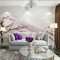 Lcymt 中国の花の絵家の装飾フレスコ画の写真の壁画のリビングルームの寝室の壁紙3Dの自己接着ビニール/シルク-280X200Cm