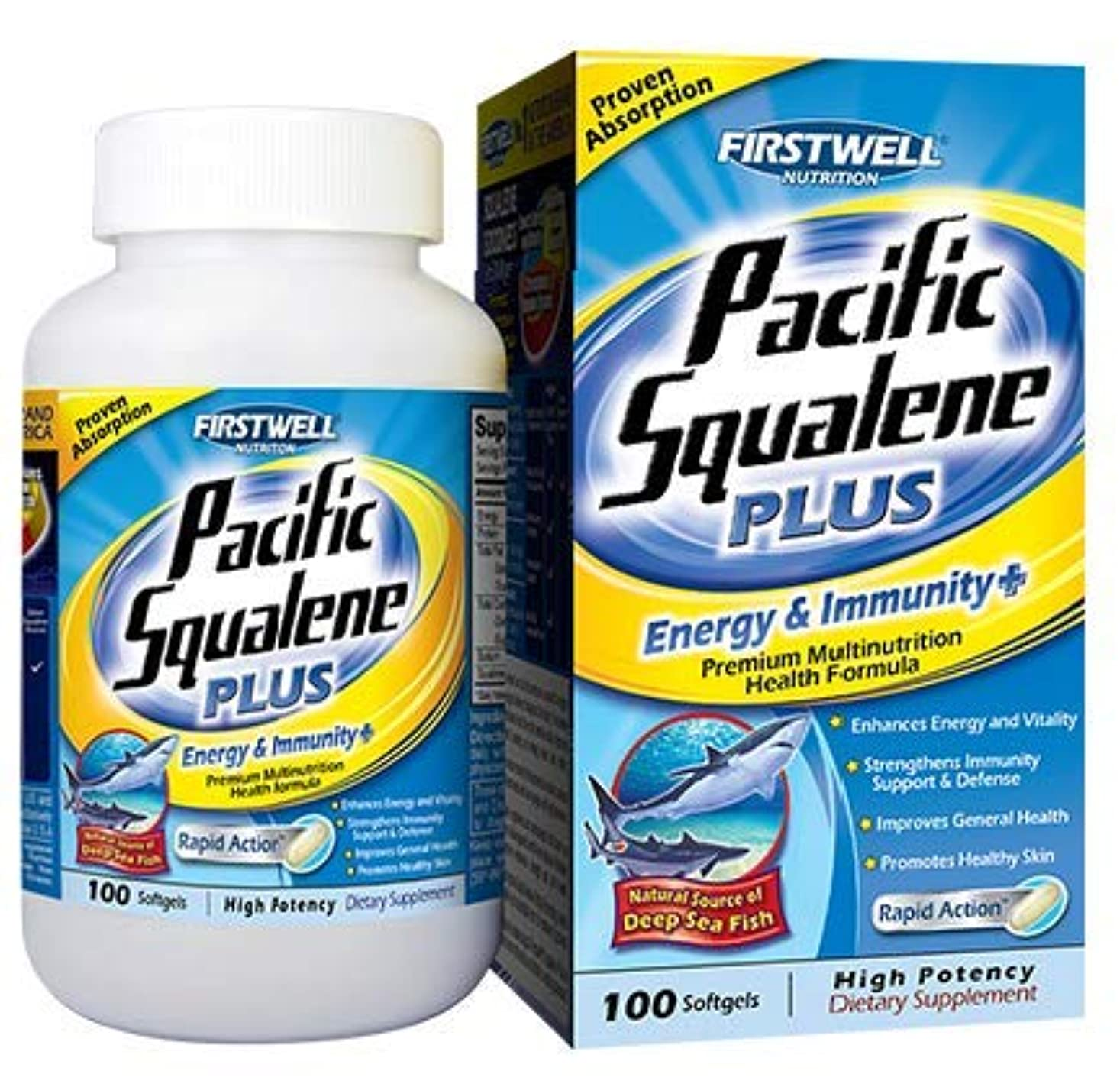 文対象気付くFIRSTWELL Pacific Squalene 100'S 太平洋スクアレン