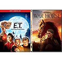 Incredible Tale loyalty, hope Fantasy Stephen Spielberg Double Magical Adventure Movie Set War Horse Story + E.T. The Extra Terrestrial 2 DVD Family Fun Bundle [並行輸入品]