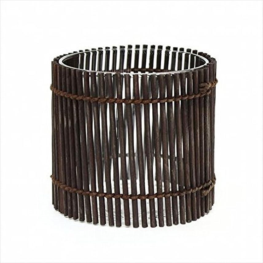 捕虜ワークショップきょうだいカメヤマキャンドル(kameyama candle) 竹あかり 「 ブラウン 」