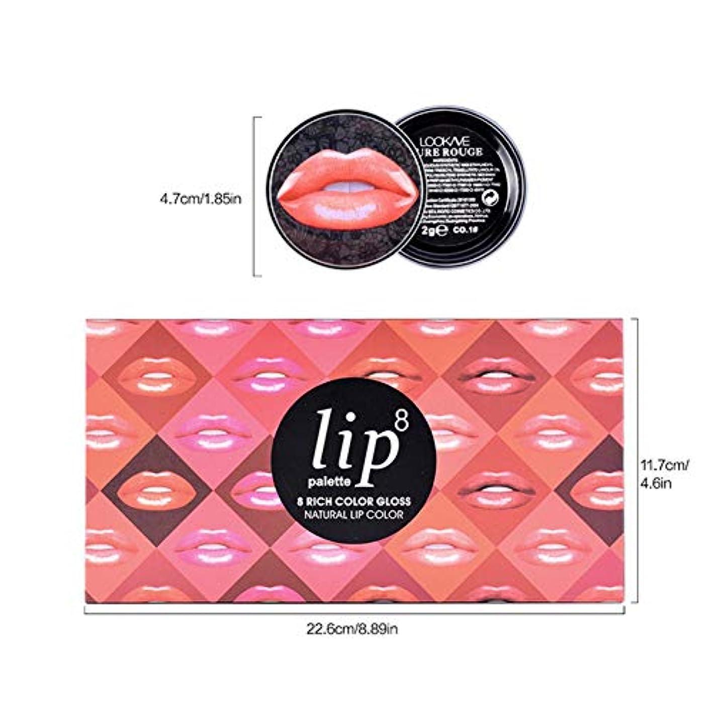 飢貸し手うがいリップブラシが付いている8 PCのマットの口紅セット-長続きがする唇の構造セットは色あせた口紅を衰退させません