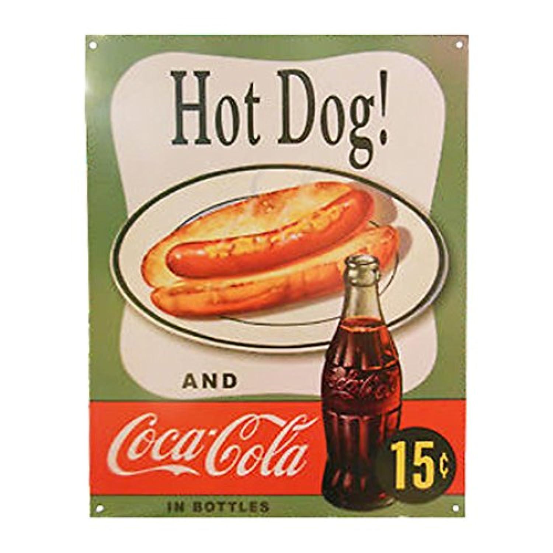 Tin Sign Coke Hotdog 【サインボード】 #58272