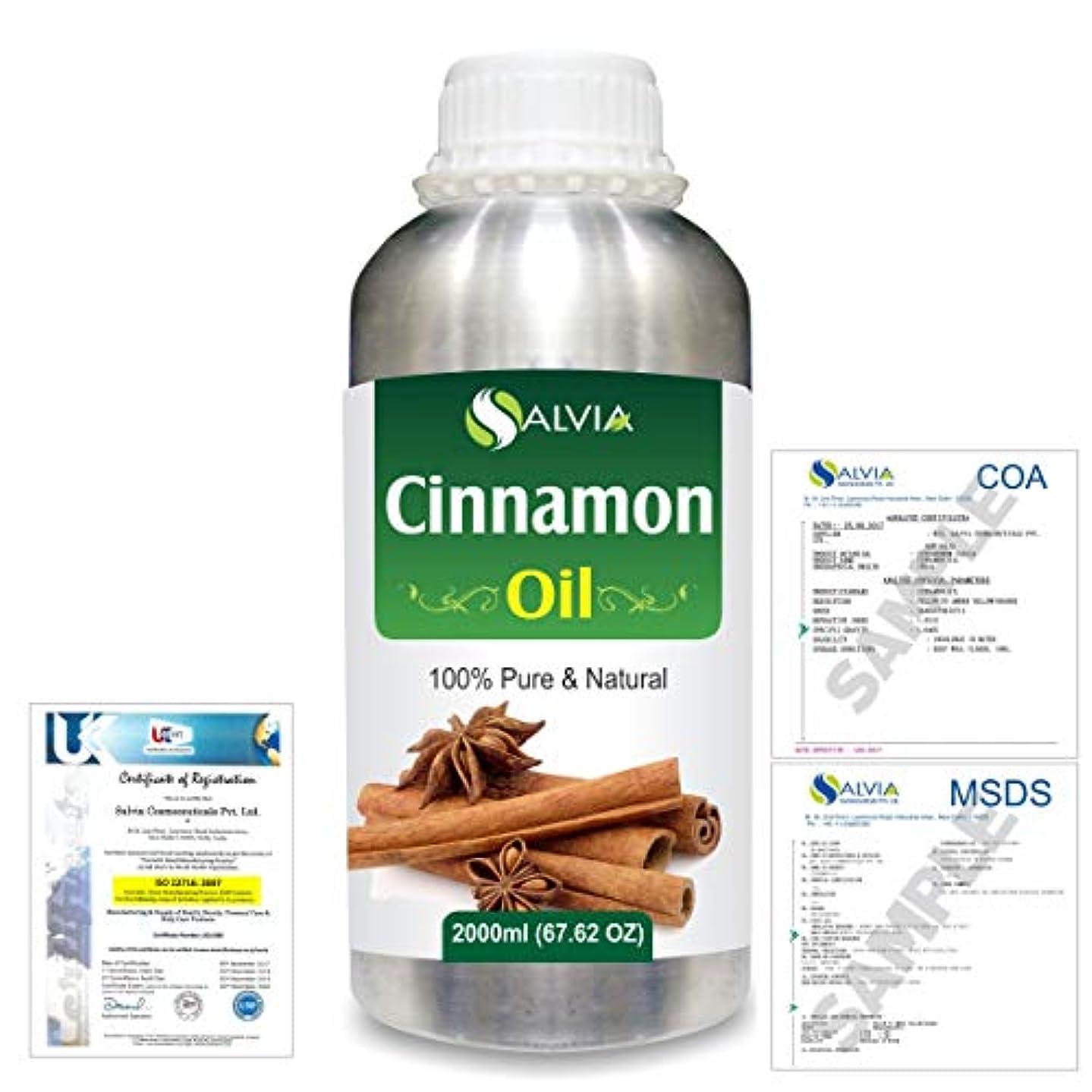 確執アクロバット利用可能Cinnamon (Cinnamomum Cassia) 100% Natural Pure Essential Oil 2000ml/67 fl.oz.