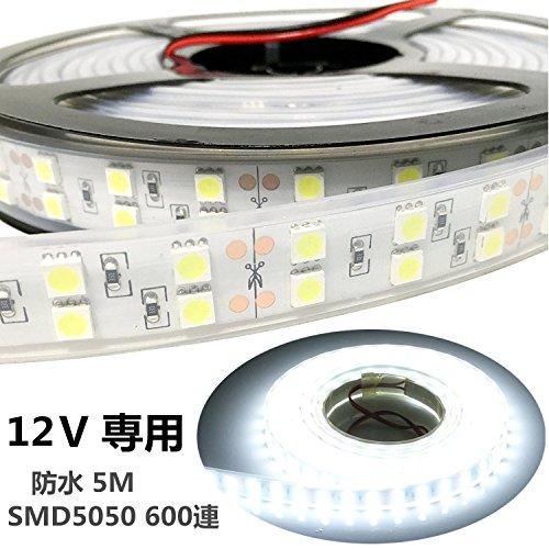 LEDテープ 12V 防水 SunnyNight 5M ホワ...