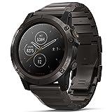 [ガーミン]GARMIN fenix 5X Plus Sapphire フェニックス 5エックス プラス サファイア マルチスポーツ対応 GPS内蔵 スマートウォッチ ウェアラブル端末 流通限定モデル 腕時計 メンズ レディース チタン ブラック 010-01989-70 [正規輸入品]