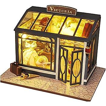 [リトルスワロー] 世界のおしゃれなショップ ミニチュア ドールハウス 模型 DIY 工作キット セット (ビクトリア洋装店)