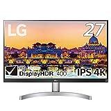 【Amazon.co.jp限定】LG モニター ディスプレイ 27UL600-W 27インチ 4K DisplayHDR400 IPS非光沢 HDMI×2、DisplayPort