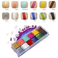12 Colors IMAGIC Flash Paint Case Makeup Palette Eyes Cheek Lip Body Cosmetic