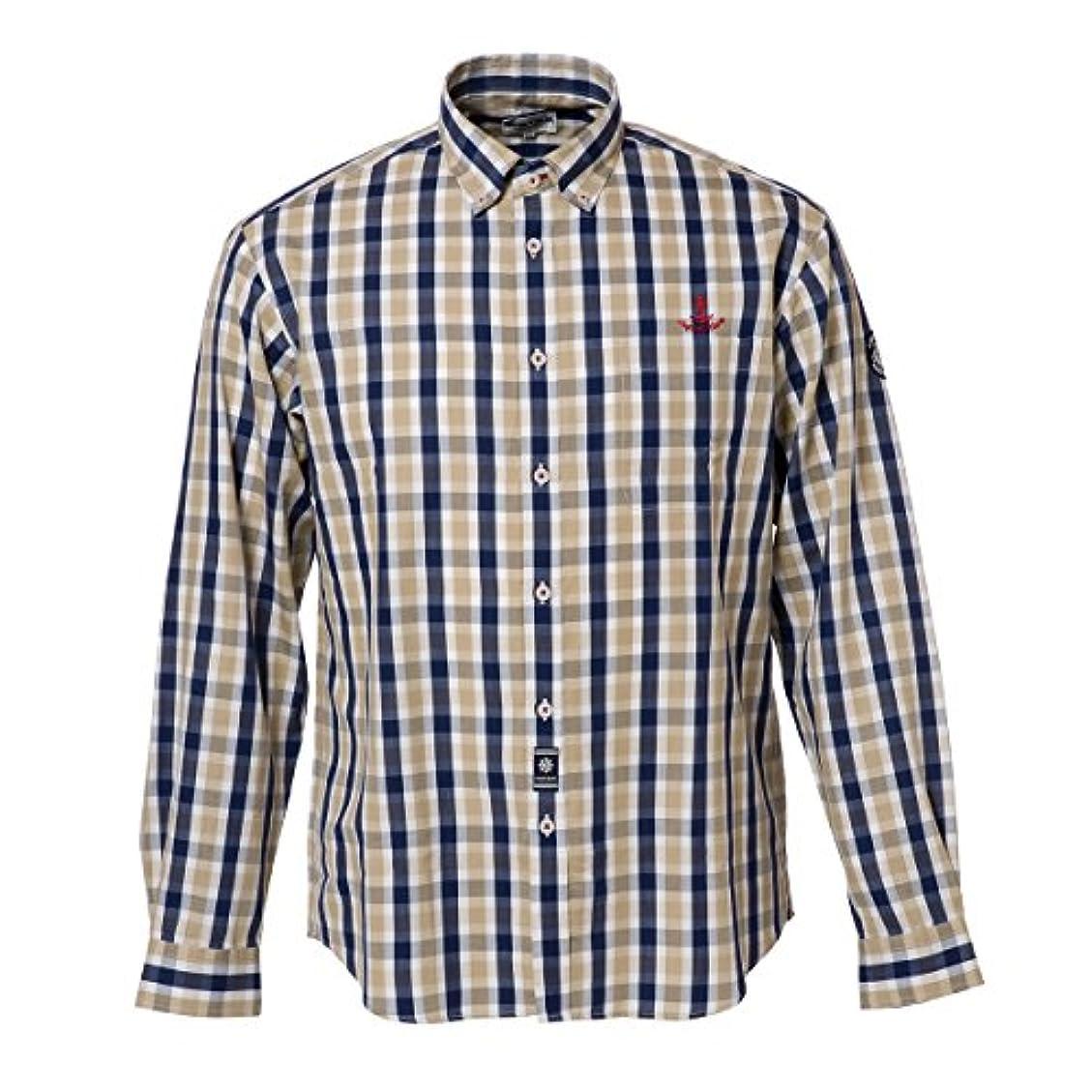 純粋な足枷手がかり(シナコバ) SINA COVA 18134030 ボタンダウンシャツ ネイビー系 Mサイズ