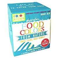 ColorKitchen Food Color Packets - 5 count Vibrant Color From Nature (Blue) by ColorKitchen