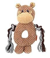 EOZY ペット用品 音の出るおもちゃ 噛むおもちゃ ペット用玩具 ワンちゃん 猫用 犬用おもちゃ かわいい 訓練用 丈夫 ストレス解消 運動不足解消 馬