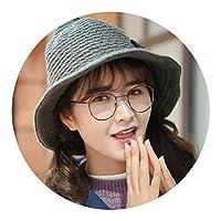秋と冬のカジュアルなウールの帽子の冬の暖かいニット帽を指摘したソーサラーハット韓国の女性の秋と冬の韓国語バージョン,ピンク,M(56〜58cm)