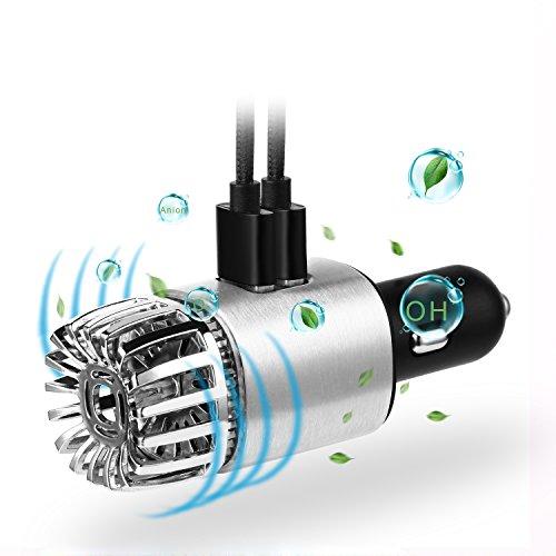車載空気清浄器 2in1 USBイオン発生器 殺菌 脱臭 タ...