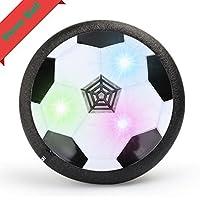 KidsエアパワーサッカーディスクHoverボールクリスマスギフト、Zonv Cool Training Football Toys with Foamバンパー、LEDライトforインドアアウトドア、楽しいボーイズガールズスポーツゲーム
