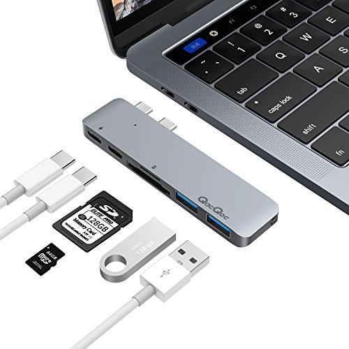 USB c ハブ PD機能付きUSB-cハブ 2016 MacBook Pr...