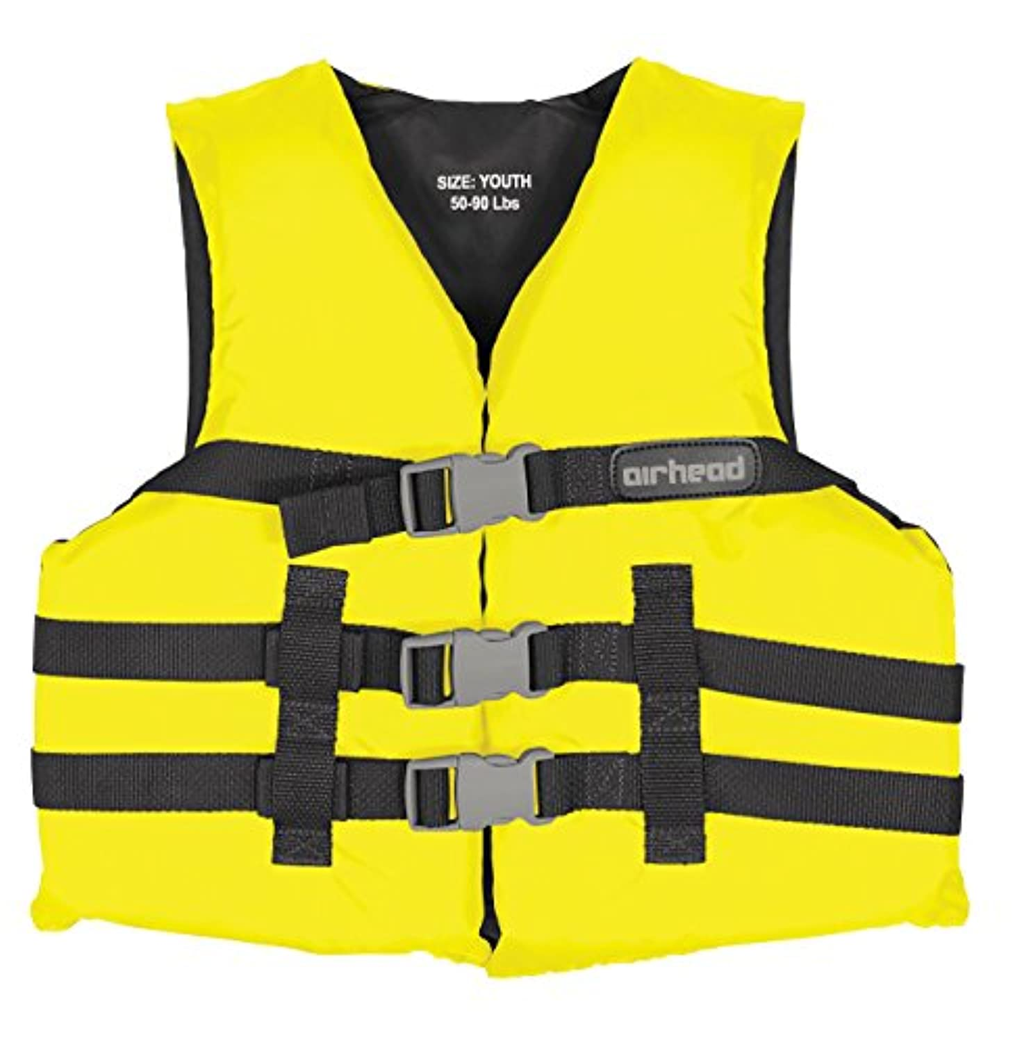 Kwik Tek Airhead Nylon Youth Pfd Open Side Yellow 10002-03-A-Yw by Kwik