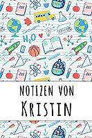 Notizen von Kristin: Liniertes Notizbuch fuer deinen personalisierten Vornamen