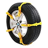 Leechatwin 取付簡単簡易 タイヤ チェーン10本 セット2輪分タイヤ幅 145mm ~ 285mm専用 ケース 付属 ソフトプラスチック 軽量事故防止フリー サイズ LH-267