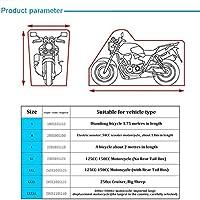 Motorcycle Cover Protective Outdoor Indoor 190T 210D Sun Protection Rainproof Dust-Proof Motorbike Rain Cover