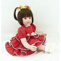 oumeinuo人形Rebornベビー人形Siliconeビニール22 in Lovely Lifelikeかわいい少年少女おもちゃ+服+靴