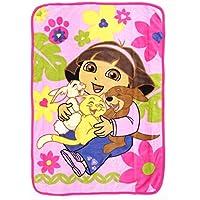 Dora The Explorer Dora Coral Plush Toddler Blanket, The Explorer Pets by Dora the Explorer [並行輸入品]