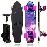 BAYTTER ミニクルーザー コンプリート 22インチ メープルデッキ スケートボード ABEC11ベアリング採用 木製 クルーザー メンテナンスレンチとスケボー用バッグ付