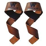 WINDAUD リストストラップ 筋トレ リストラップ レザー - リフティングストラップ - ダンベルストラップ - ウエイトトレーニング - 天然皮革 100%