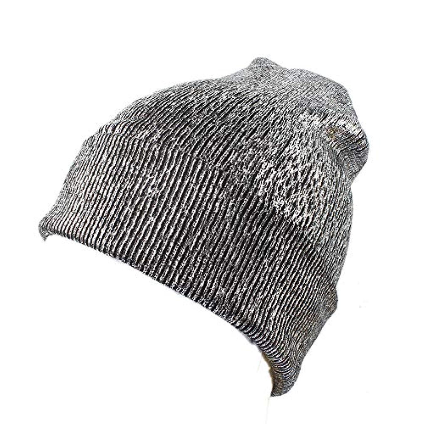 一元化するファウルなんとなくRacazing 選べる3色 クリスマスの冬 ニット帽 耳保護 光沢 ニット帽 チェック ファッション 防寒対策 防風 暖かい 軽量 屋外 スキー 自転車 クリスマス ニット帽 Hat 女性用 (シルバー)