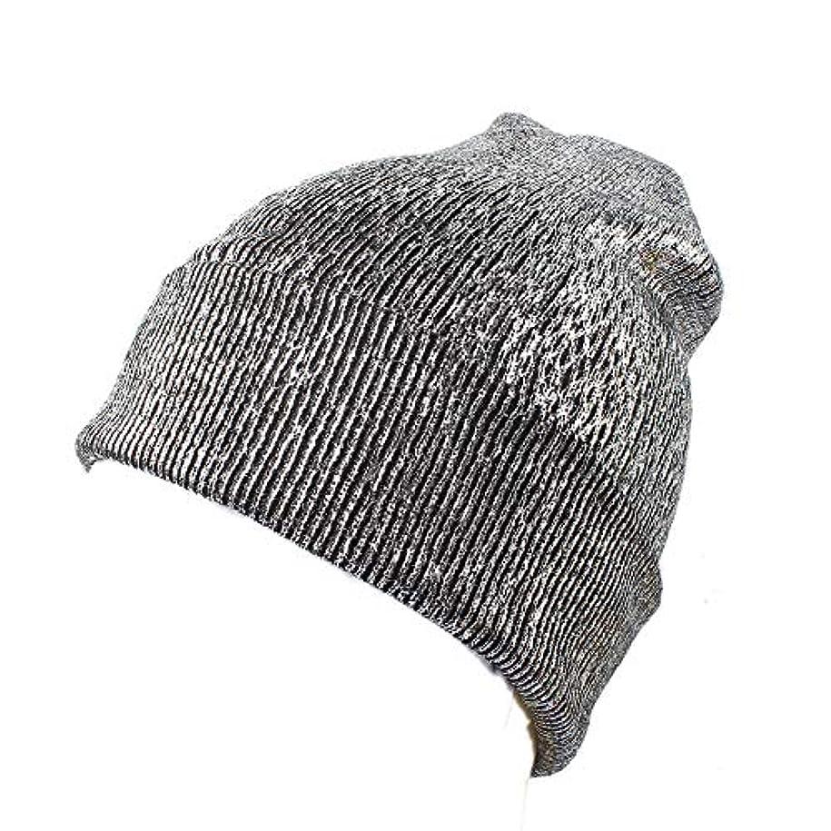 影より良いテクスチャーRacazing 選べる3色 クリスマスの冬 ニット帽 耳保護 光沢 ニット帽 チェック ファッション 防寒対策 防風 暖かい 軽量 屋外 スキー 自転車 クリスマス ニット帽 Hat 女性用 (シルバー)