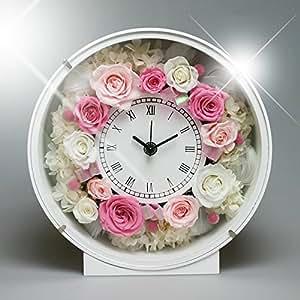 PRECIOUS FLOWER プリザーブドフラワー お花の時計 PSYH-01201 ピンク