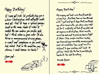 Quiplip手書きYours Truly誕生日カード、6パック(yt06106pck)