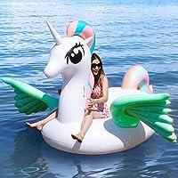 Geekper 浮き輪 ユニコーン浮き輪 大型 240x220x150cm 強い浮力 大きい フロート 高品質 安全 夏 海 プール 海水浴 水遊び 最適 大人 子供用 握り取っ手付き