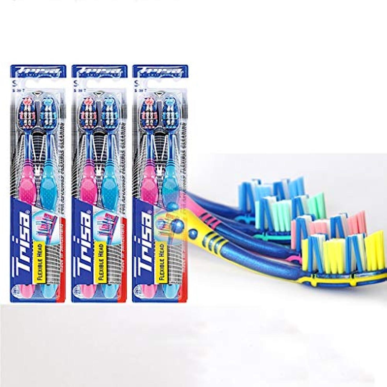 資本剥離急勾配の家族は、6本の大包装歯ブラシ、ディープクリーニングガム、スーパーソフト歯ブラシパック