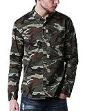 (マッチスティック)Matchstick メンズ ミリタリー 長袖 迷彩 ミリタリーシャツ#G2252(2XL,G2252 ダークアーミー迷彩)