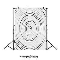 1.5x2.1m ブラウン 背景布 尖塔の装飾、ブラックホワイトダークブラウンの背景 ブラウンの背景 ビンテージ背景 ポートレート 写真スタジオ 撮影用 背景布 写真撮影用の背景幕 装飾用