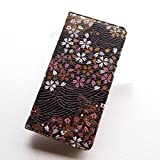 iphone 6 6s ケース 和柄で高品質 手帳型 ( アイフォン6 6s ケース ) 高級品の西陣織り (アイフォン6 6s, 黒金襴)