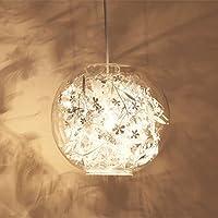 Nclon シャンデリア ガラス シェード,シーリング ライト スターライト キラキラ効果 ハンギングフィクスチャ な な クリエイティブ 性格 高さ調節可能 の ベッド リビング ルーム 入り口]-ホワイト-01 28cm