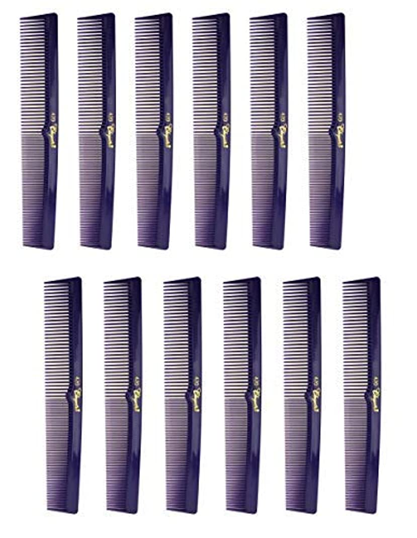 火山学ダメージ作ります7 Inch Hair Cutting Combs. Barber's & Hairstylist Combs. Purple 1 DZ. [並行輸入品]