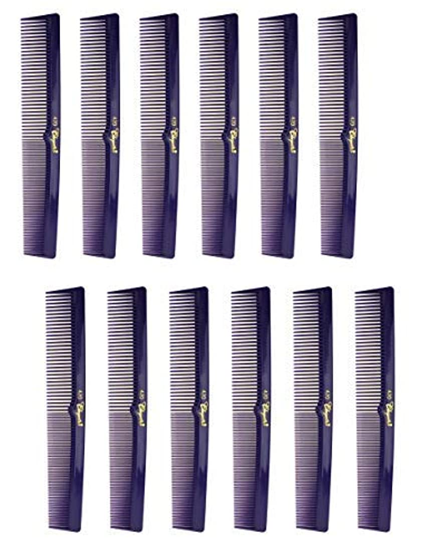 7 Inch Hair Cutting Combs. Barber's & Hairstylist Combs. Purple 1 DZ. [並行輸入品]