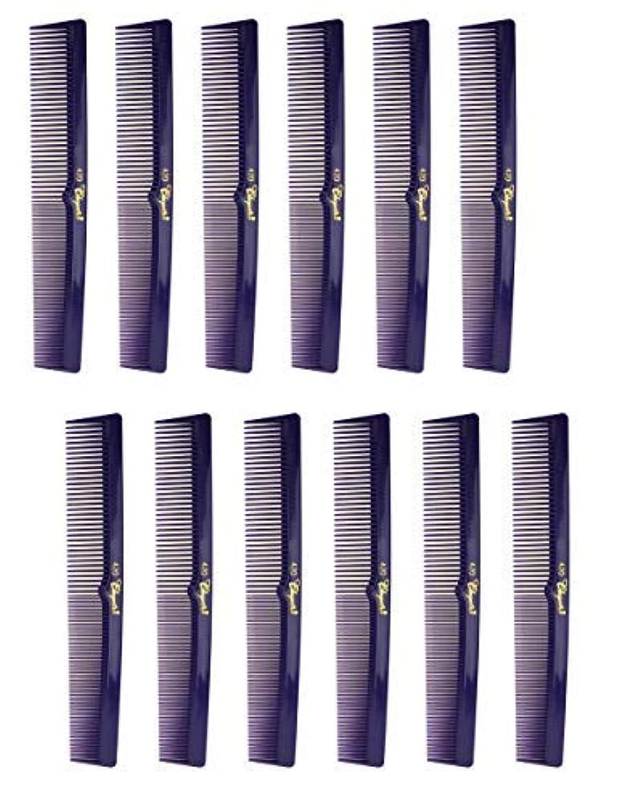 7 Inch Hair Cutting Combs. Barber's & Hairstylist Combs. Purple 1 DZ. [並行輸入品]