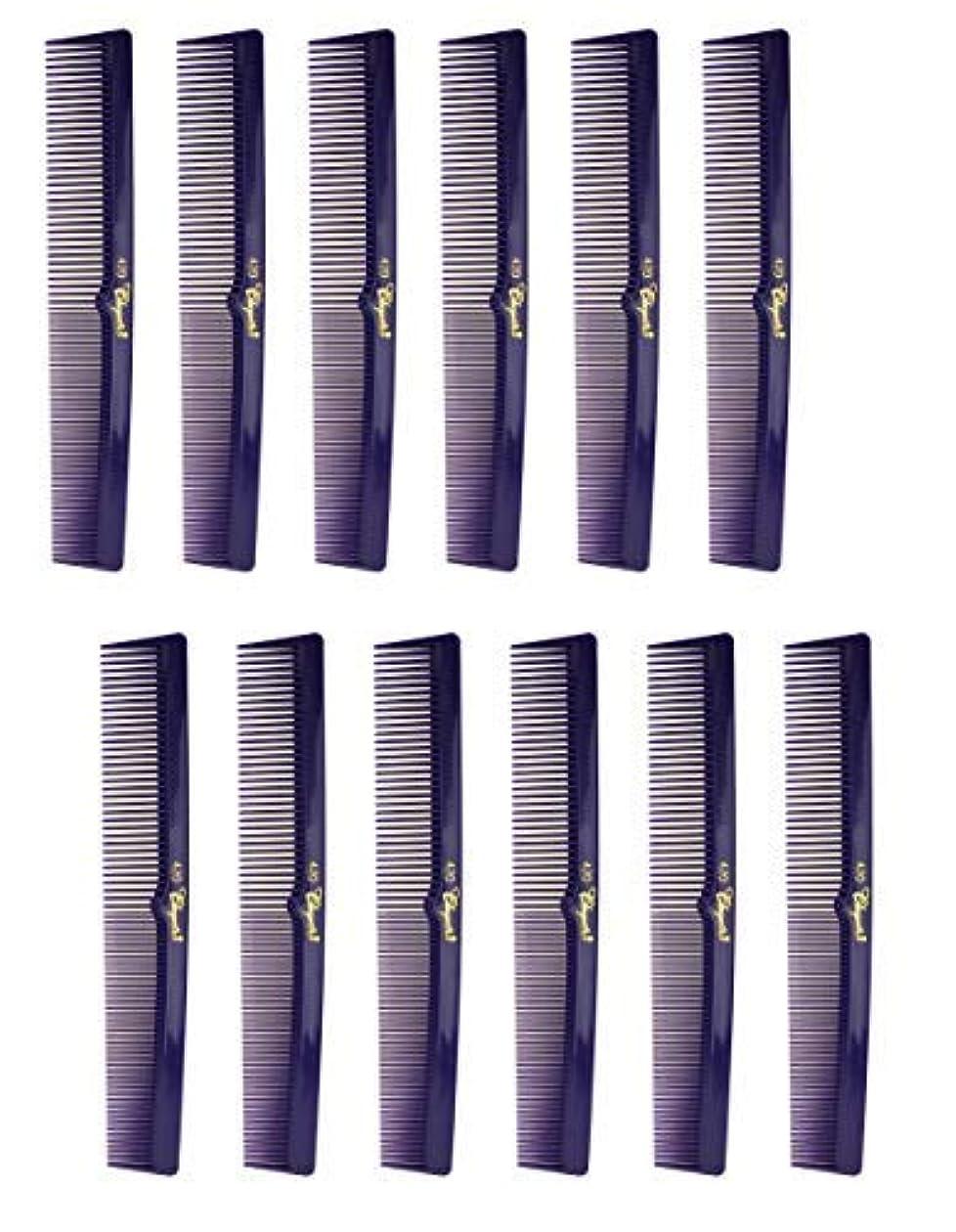 交流する休戦アブストラクト7 Inch Hair Cutting Combs. Barber's & Hairstylist Combs. Purple 1 DZ. [並行輸入品]