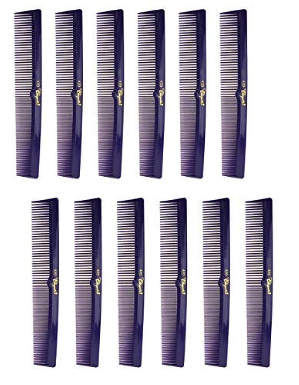 幻想的商業のスペイン7 Inch Hair Cutting Combs. Barber's & Hairstylist Combs. Purple 1 DZ. [並行輸入品]