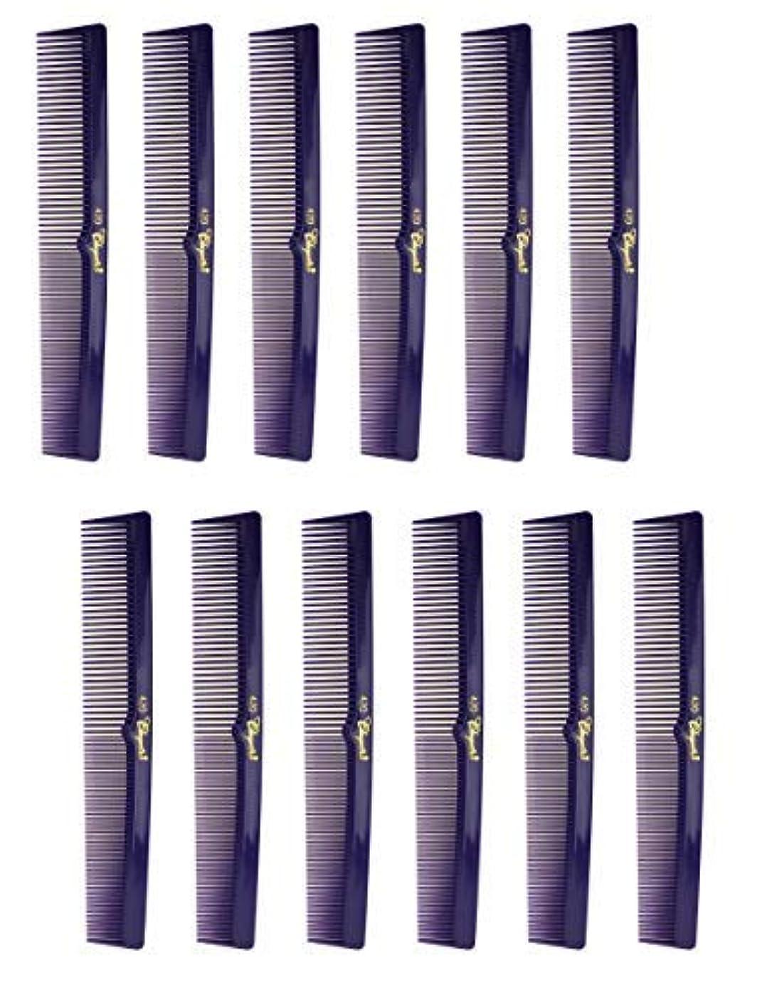 敬の念不正霧深い7 Inch Hair Cutting Combs. Barber's & Hairstylist Combs. Purple 1 DZ. [並行輸入品]
