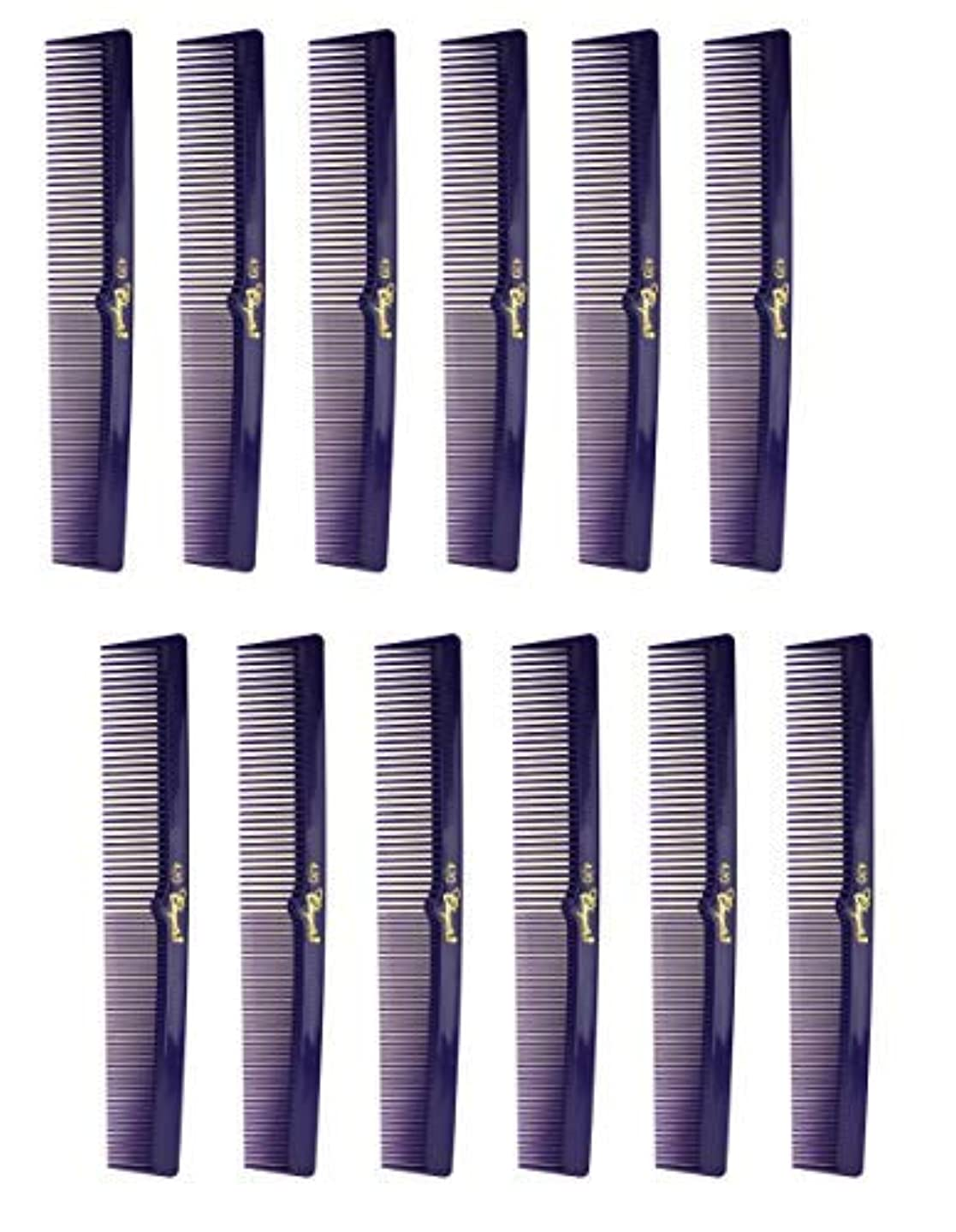 合図銅ヘルパー7 Inch Hair Cutting Combs. Barber's & Hairstylist Combs. Purple 1 DZ. [並行輸入品]