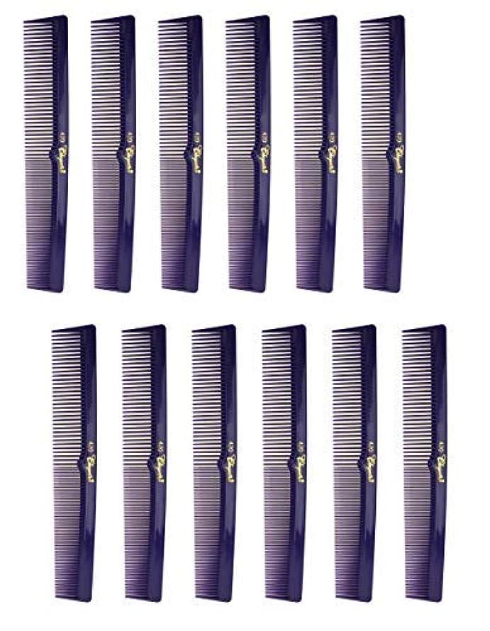 卵ルームはさみ7 Inch Hair Cutting Combs. Barber's & Hairstylist Combs. Purple 1 DZ. [並行輸入品]