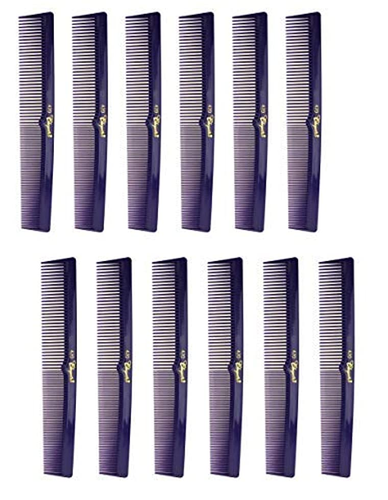 ストロー並外れた人工的な7 Inch Hair Cutting Combs. Barber's & Hairstylist Combs. Purple 1 DZ. [並行輸入品]