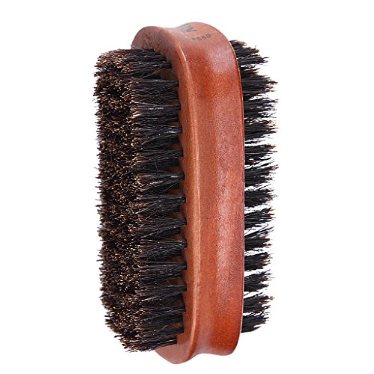 深遠サリーバンケットToygogo ヘアブラシ 両面ブラシ 男性 髭 口ひげ グルーミングブラシ ブリストルブラシ