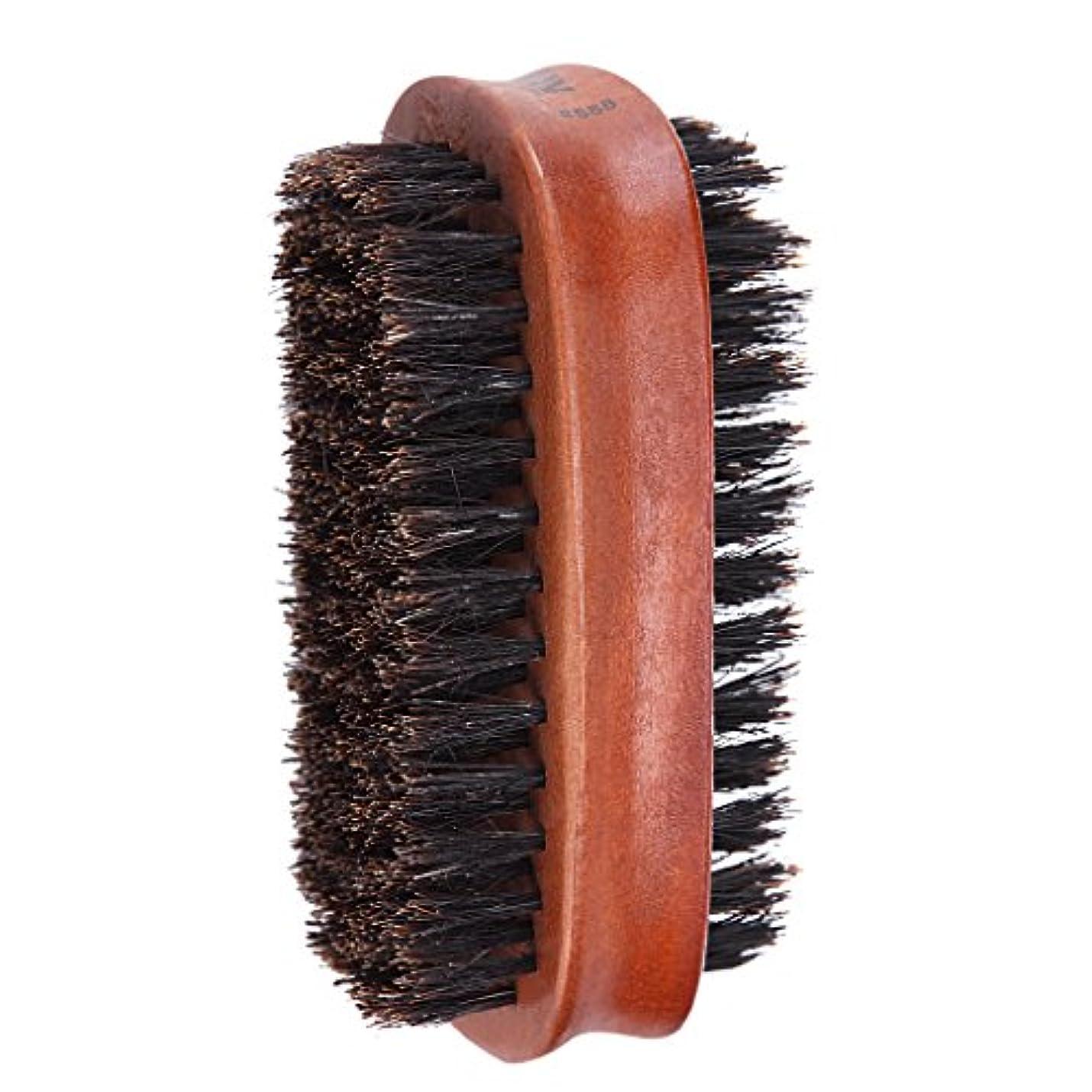 取り付けプレビュー示すCUTICATE 男性髪髭口ひげグルーミングブラシハード両面コーム