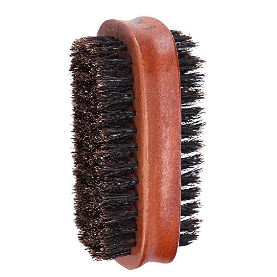 横たわるコメント寄付Toygogo ヘアブラシ 両面ブラシ 男性 髭 口ひげ グルーミングブラシ ブリストルブラシ