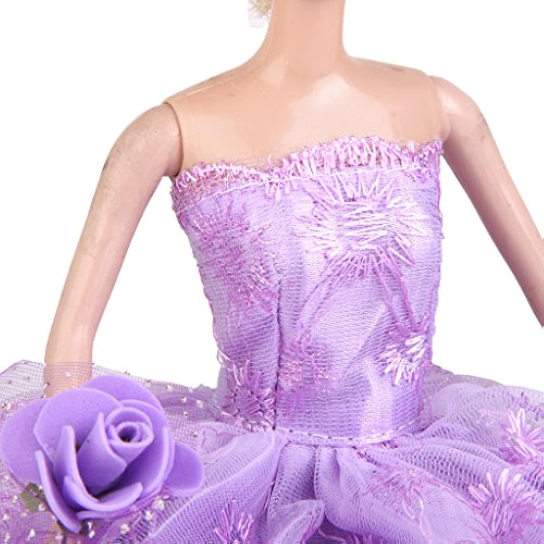 Dovewill ドール用 着せ替え 人形用 花柄 ウェディングドレス ドレス 帽子 セット 可愛い